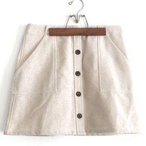 Banana Republic Button Up Tweed Skirt Size 8